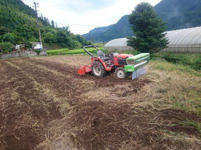 野菜本圃づくり開始